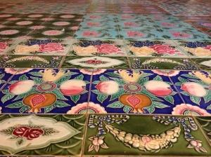 Love this floor inside the pagoda.