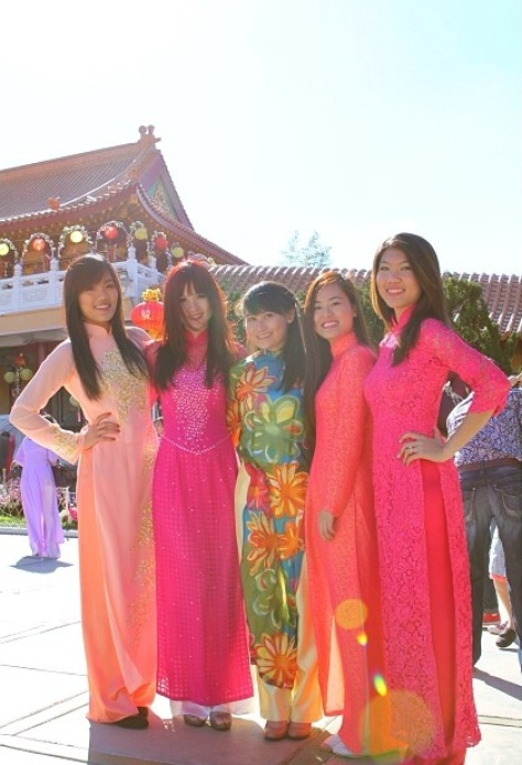 Aodai dresses. Photo Napunzel on instagram.